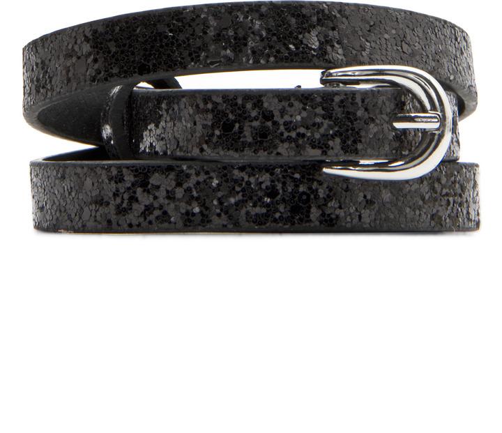 MANGO Glitter thin belt