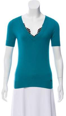 Gucci Lace-Accented Cashmere Top