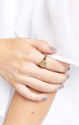 MUMU Round Signet Ring ~ Gold