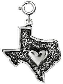QVC Sterling Heart of Texas Charm
