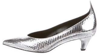 Calvin Klein Snakeskin Pointed-Toe Pumps