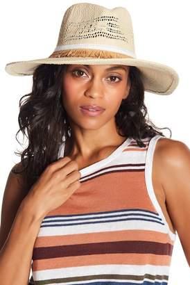 Melrose and Market Frayed Trim Panama Hat