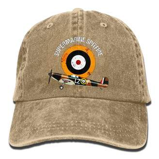 Spitfire kdjjkd Supermarine RAF Warbird Adjustable Baseball Cap Mesh Hat Trucker Caps