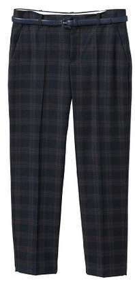 MANGO Straight checkered trousers