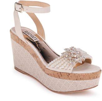 ec46c8cb958 Badgley Mischka Collection Leane Wedge Sandal