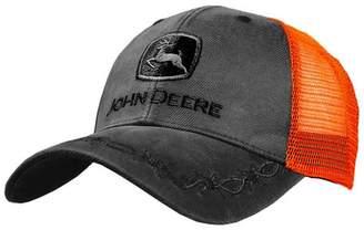 5b1209f16fda0 John Deere J. America Oilskin Mesh Back Embroidered Hat