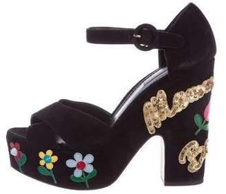 Dolce & Gabbana Mamma Bella Platform Sandals