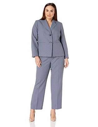 Le Suit Women's Size Plus 2 Button Notch Collar Pant Suit