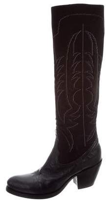 Rocco P. Embroidered Knee-High Boots