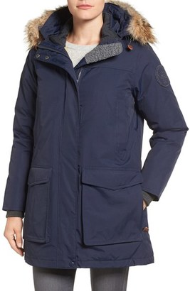 Women's Woolrich 'Patrol' Hooded Water Resistant Down Parka With Genuine Coyote Fur Trim $495 thestylecure.com