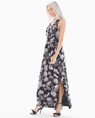 Soft Jersey Surplice Neckline Sleeveless Maxi Dress