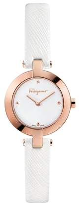 Salvatore Ferragamo Miniature Leather Strap Watch, 26mm