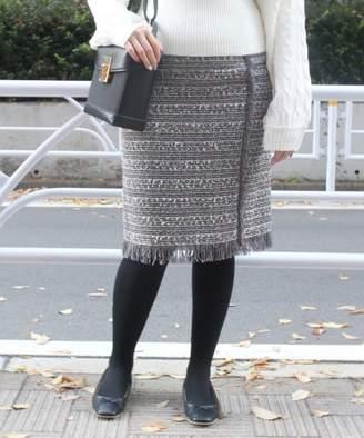 Limitless Luxury (リミットレス ラグジュアリー) - リミットレスラグジュアリー フリンジツイードタイトスカート