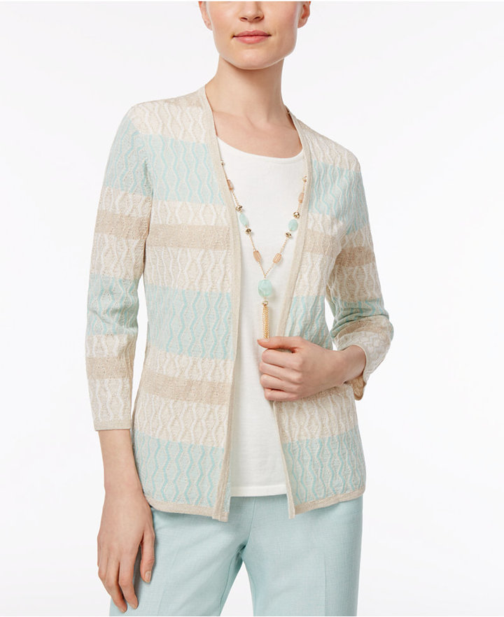 Alfred Dunner Alfred Dunner Petite Layered-Look Necklace Sweater