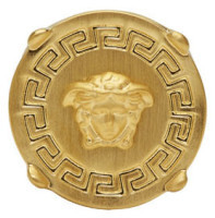 Versace Gold Round Medusa Ring $325 thestylecure.com