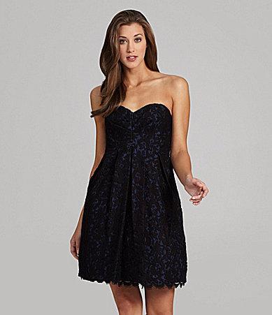 Jill Stuart Jill Strapless Lace Dress