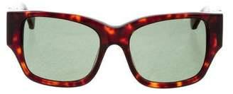 Zac Posen Tortoiseshell Square Sunglasses