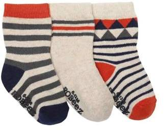 Infant Boys' Geometric Baby Sock 3 Pack (9 Pairs).