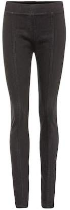 Helmut Lang Cotton-blend coated leggings