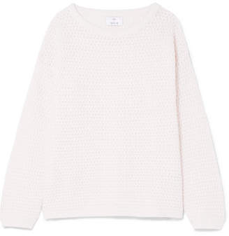 Allude Wool And Cashmere-blend Sweater - Cream