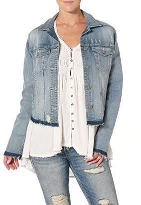 Silver Jeans Women's Ladies Denim Jacket with Let Down Hem