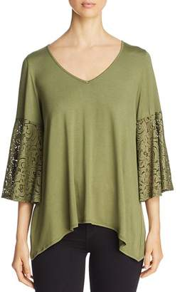 Status by Chenault Lace Bell Sleeve Top - 100% Exclusive
