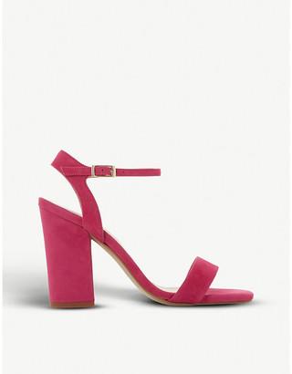 Dune Madeira suede block-heel sandals