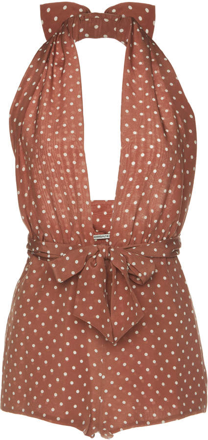 Tracy Anderson's Hot One Piece Polka Dot Swimsuit
