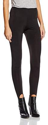 boohoo Women's Basic Stirrup Leggings,(Size:10)