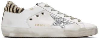 Golden Goose White Pony Superstar Sneakers