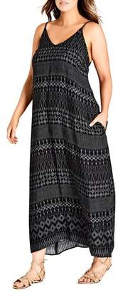 City Chic Safari Maxi Dress