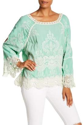 1fee8cbb608cb2 at Nordstrom Rack · Democracy 3 4 Length Sleeve Cold Shoulder Crochet Blouse