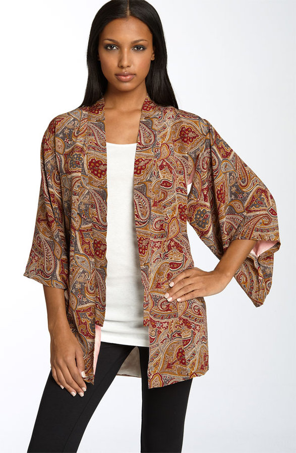 Winter Kate 'Eden' Paisley Kimono Jacket