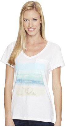 Life is Good - Heart Pocket Vibe Tee Women's T Shirt $36 thestylecure.com