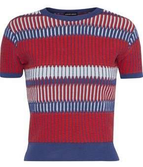 Giorgio Armani Intarsia Silk-Blend Sweater