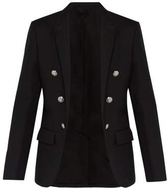 Balmain Cotton Blazer - Mens - Black