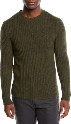 Neiman Marcus Men's Cashmere Donegal Sweater