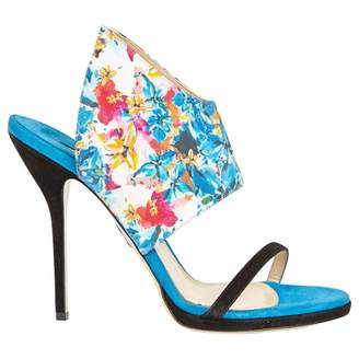 Paul Andrew Blue Suede Sandals