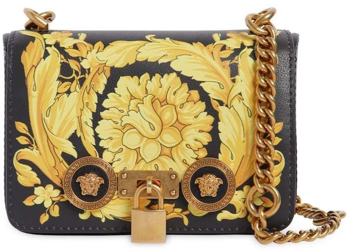 Small Baroque Print Leather Shoulder Bag