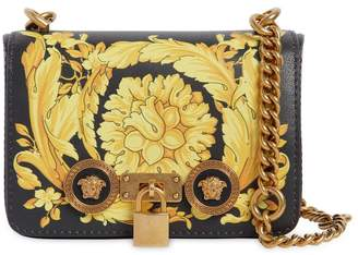 Versace Small Baroque Print Leather Shoulder Bag