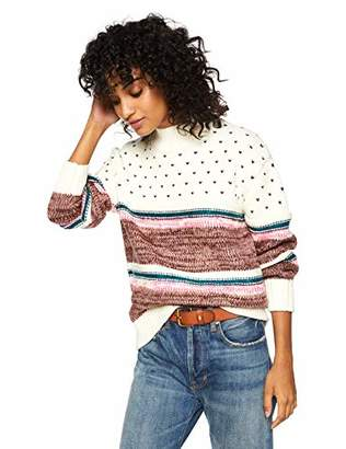 Cable Stitch Women's Chunky Variegated Stripe Sweater