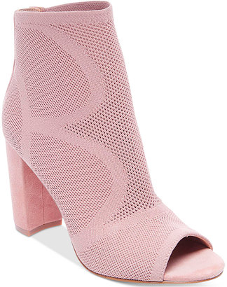 STEVEN By Steve Madden Women's Acko Peep-Toe Ankle Booties $159 thestylecure.com