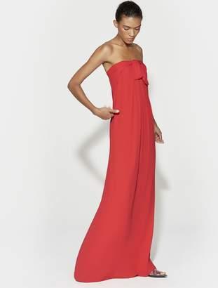 Halston Strapless Tie Front Gown