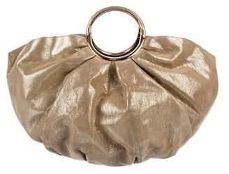 Christian Dior Metallic Suede Handle Bag