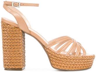 Schutz slingback platform sandals