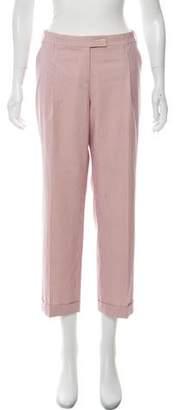 Etro Pinstripe Mid-Rise Pants