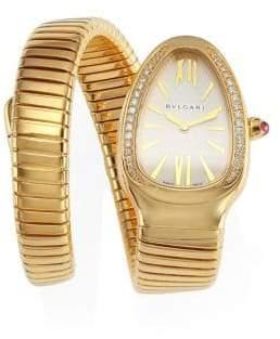 Bvlgari Serpenti Tubogas Yellow Gold& Diamond Single Twist Watch - Gold