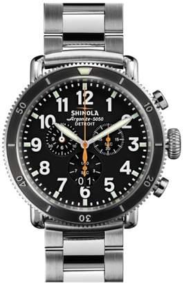 Shinola 'The Runwell Chrono' Bracelet Watch, 48mm