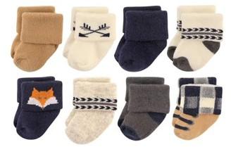 Hudson Baby Roll Cuff Crew Socks, 8-Pack (Baby Boys)