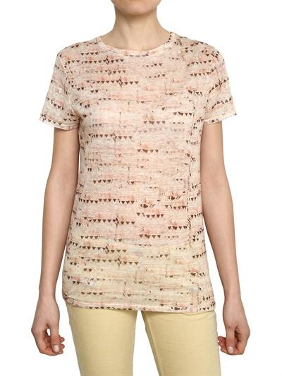 Etoile Isabel Marant Printed Linen Jersey T-Shirt